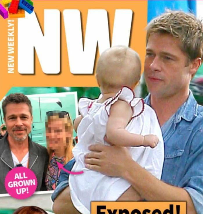 Brad Pitt z dzieckiem na okładce