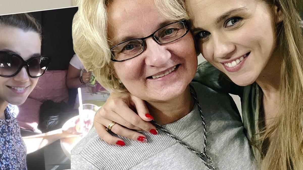 Agnieszka Kaczorowska z mamą