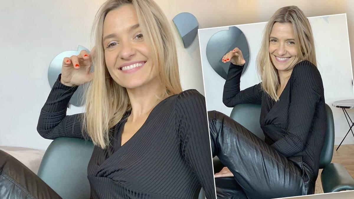 Joanna Koroniewska w spodniach z Zary