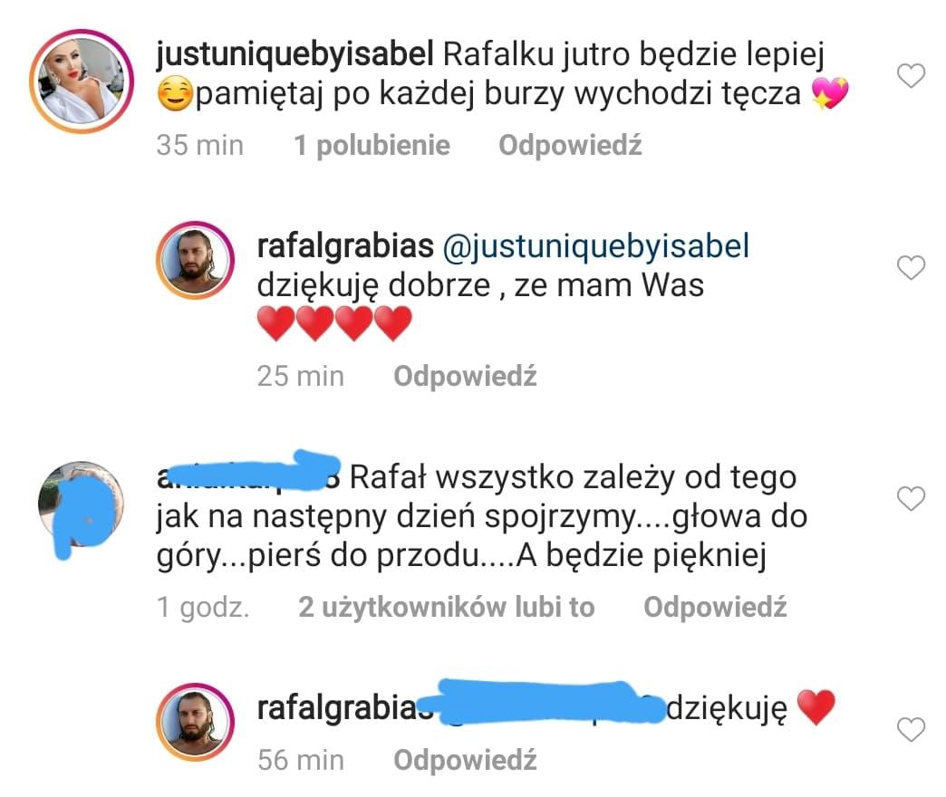 Izabela Macudzińska wspiera Rafała Grabiasa