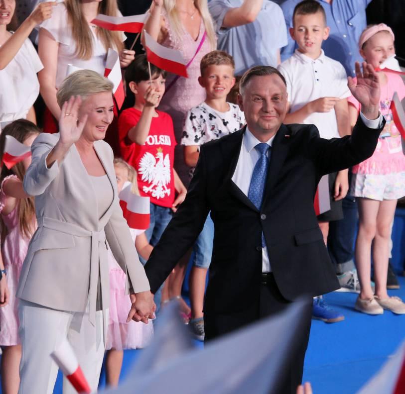 Agata Duda wspierała męża podczas wieczoru wyborczego