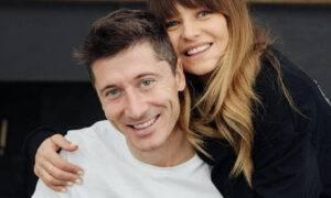 Anna i Robert Lewandowscy - salon