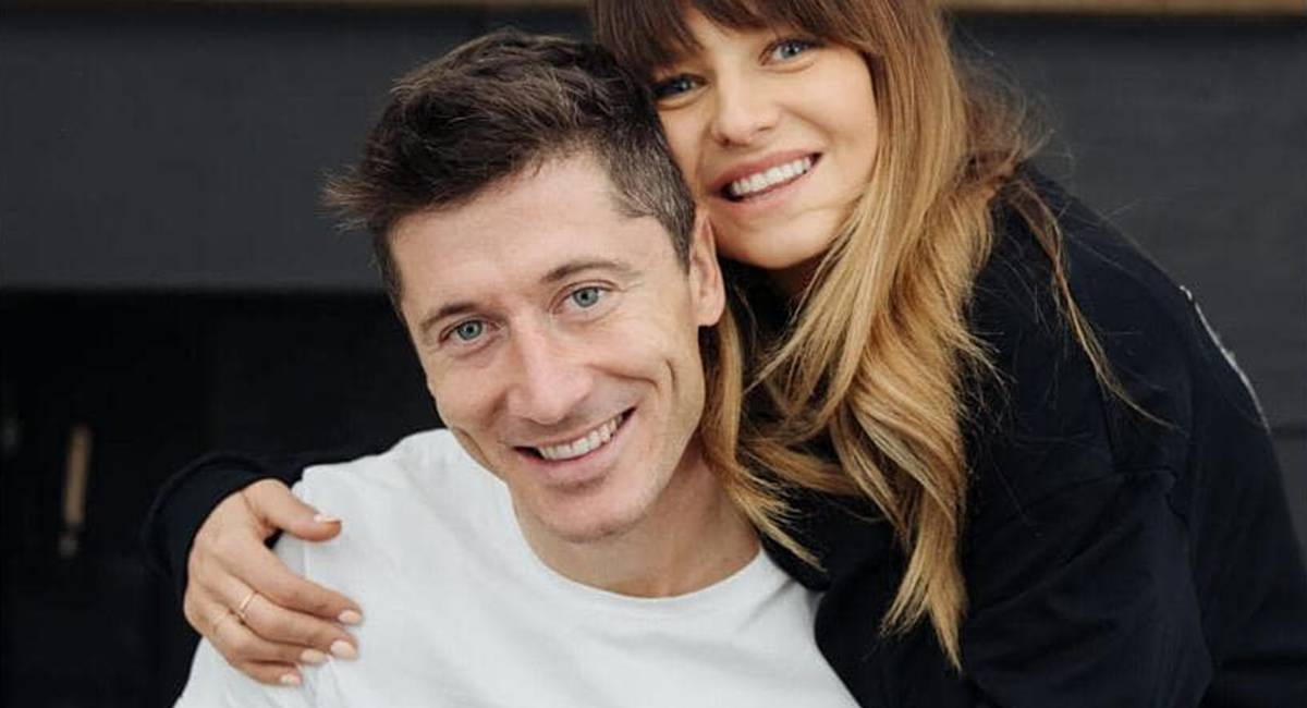 Anna i Robert Lewandowscy - salon