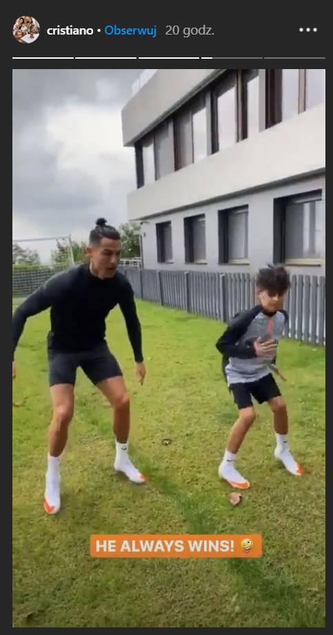 Cristiano Ronaldo z synem Juniorem