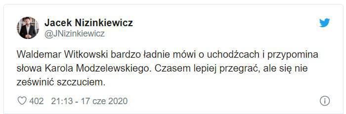 Jacek Nizinkiewicz o Waldemarze Witkowskim