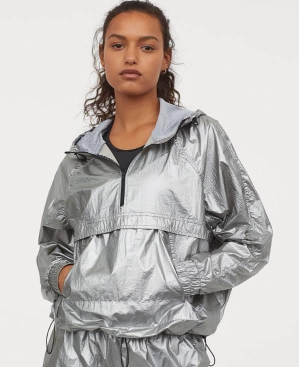 Metaliczna kurtka H&M