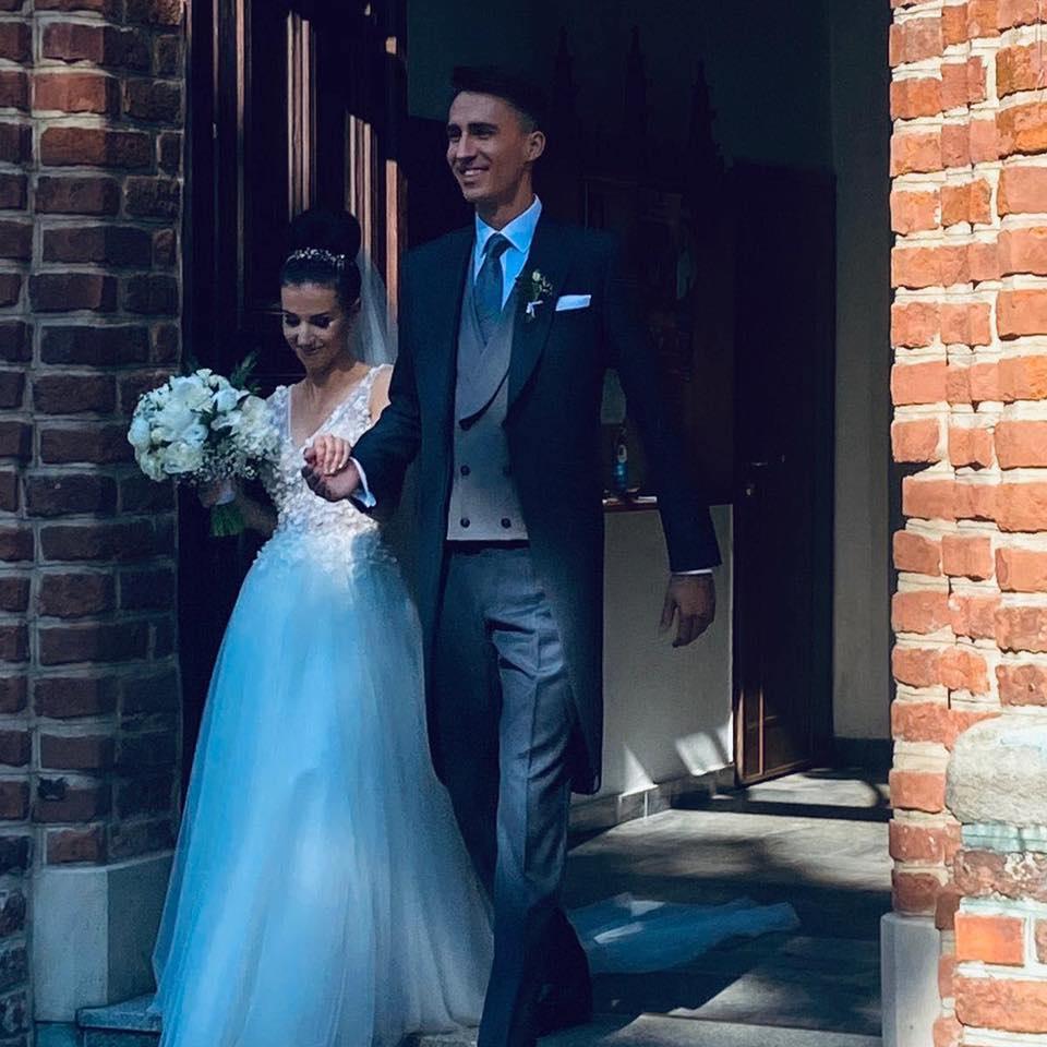 Natalia Schetyna z mężem