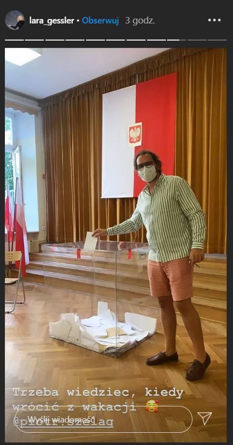 Zdjęcie (23) Wybory prezydenckie 2020. Gwiazdy głosują od rana: Kożuchowska, Rusin, Mucha
