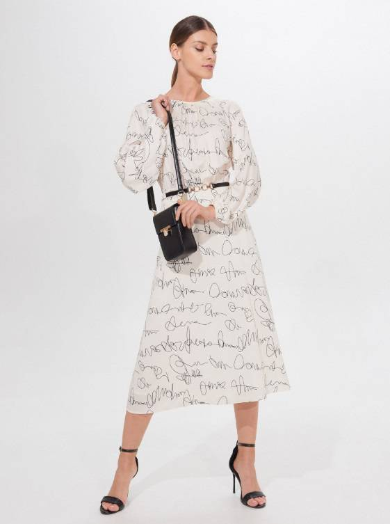 Zdjęcie (2) Kinga Rusin zbiera komplementy za swoją sukienkę z taniej sieciówki. Teraz kupicie ją na wyprzedaży