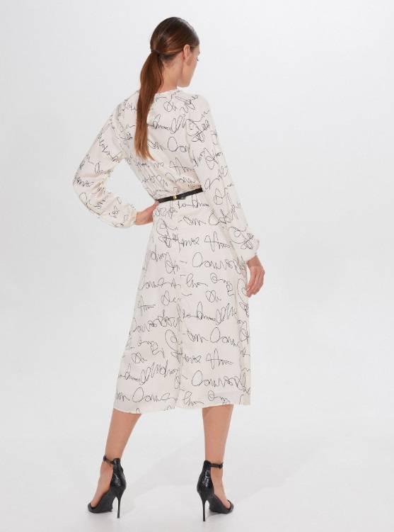 Zdjęcie (3) Kinga Rusin zbiera komplementy za swoją sukienkę z taniej sieciówki. Teraz kupicie ją na wyprzedaży