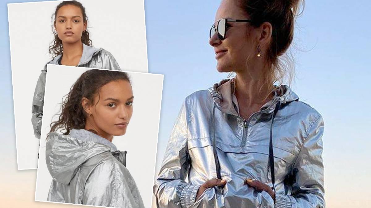 Paulina Sykut w metalicznej kurtce z H&M