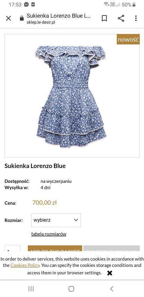 Sukienka Le Desir za 700 złotych