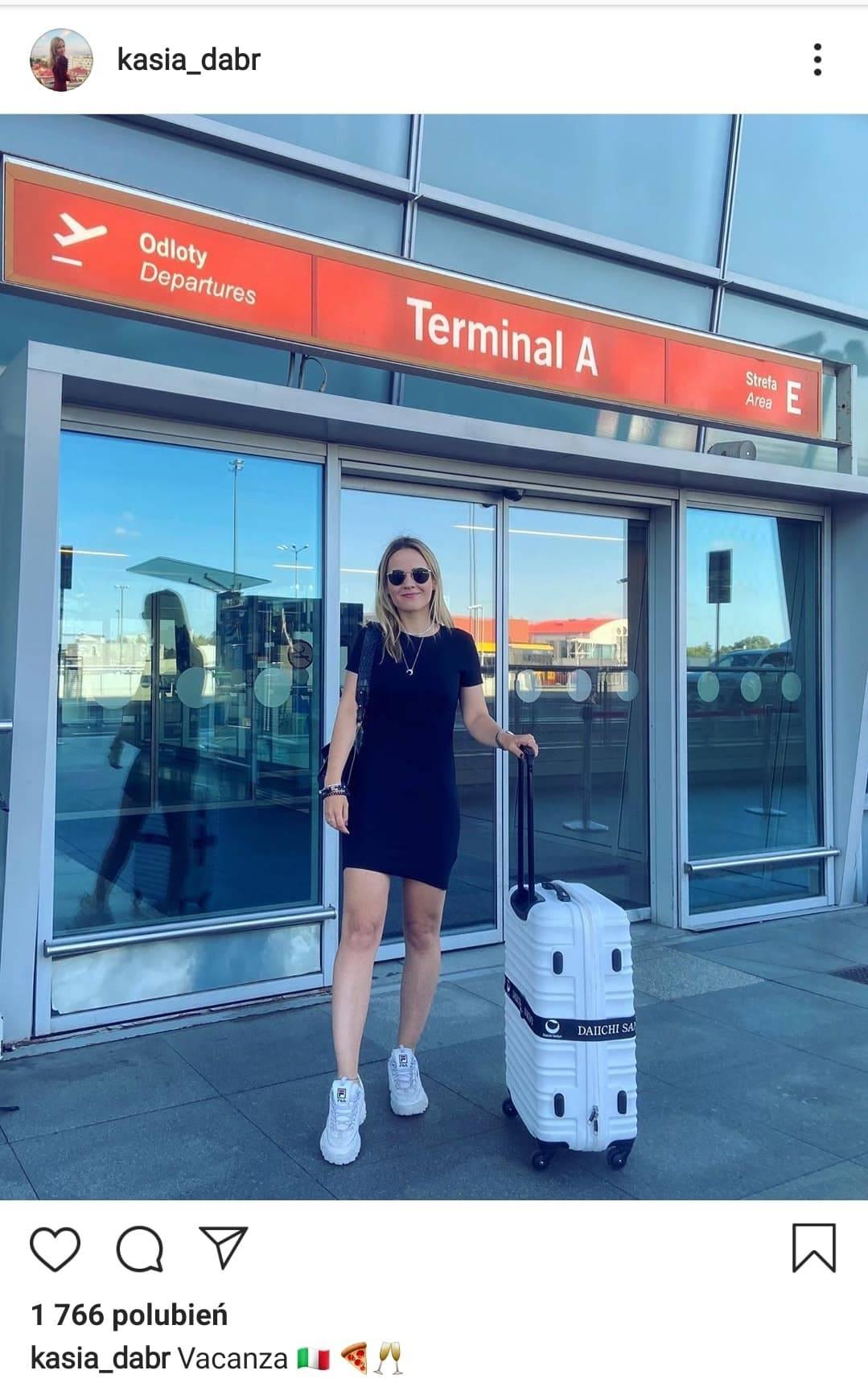 Kasia Dąbrowska leci na wakacje