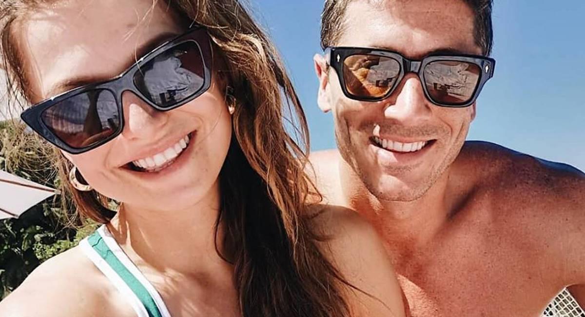 Ania i Robert Lewandowscy na wakacjach