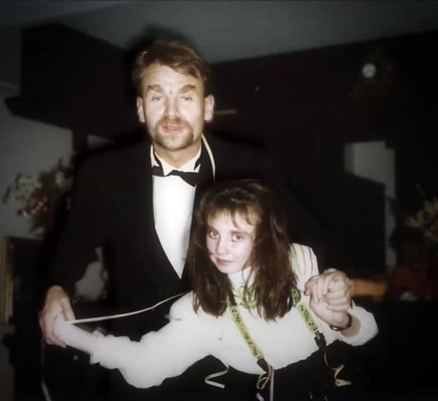 Dominika Kulczyk z ojcem