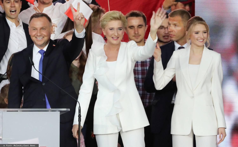 Andrzej Duda, Agata Duda, Kinga Duda - wybory prezydenckie 2020