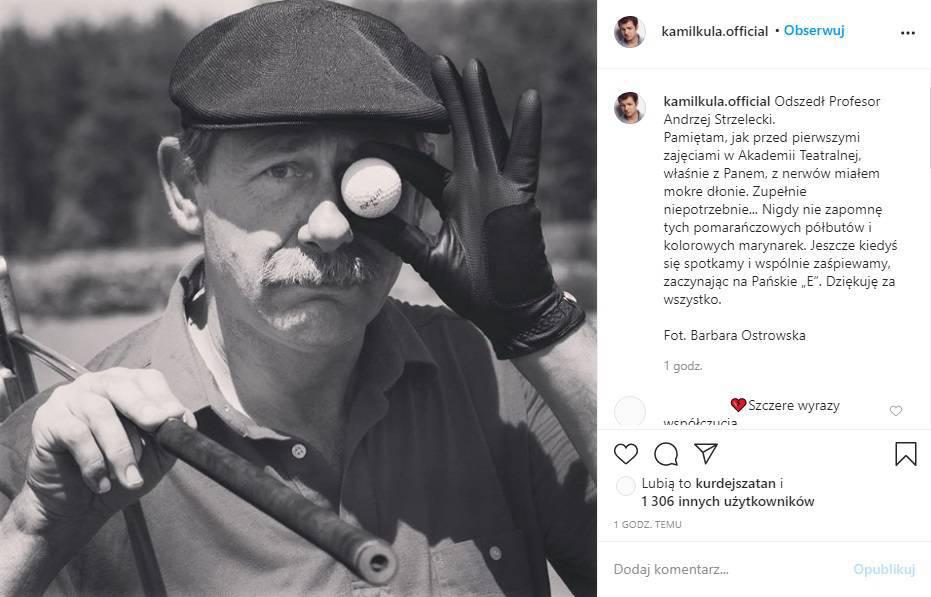 Kamil Kula żegna Andrzeja Strzeleckiego