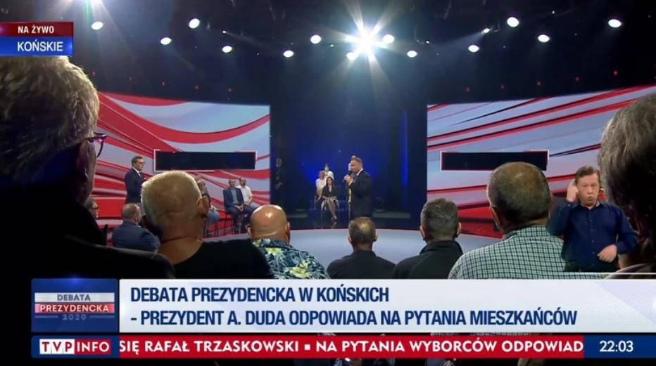 Andrzej Duda podczas Debaty