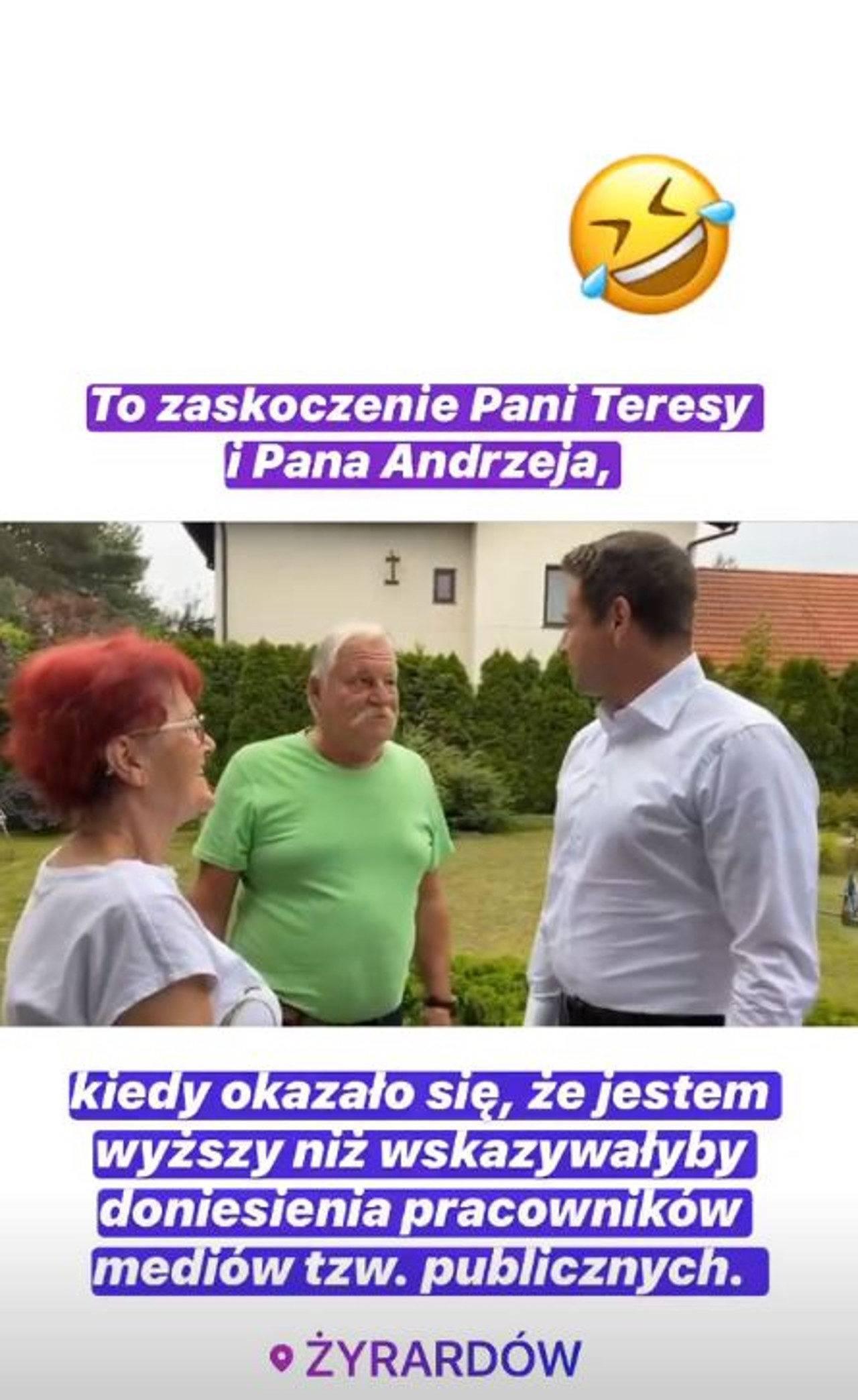 Rafał Trzaskowski - wideo na Instagramieąć