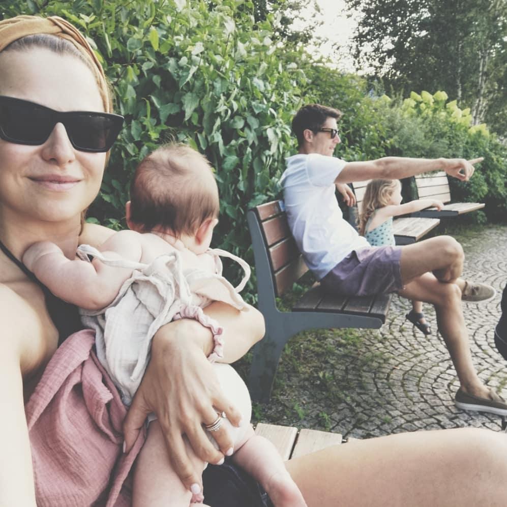 Anna Lewandowska z rodziną na wakacjach
