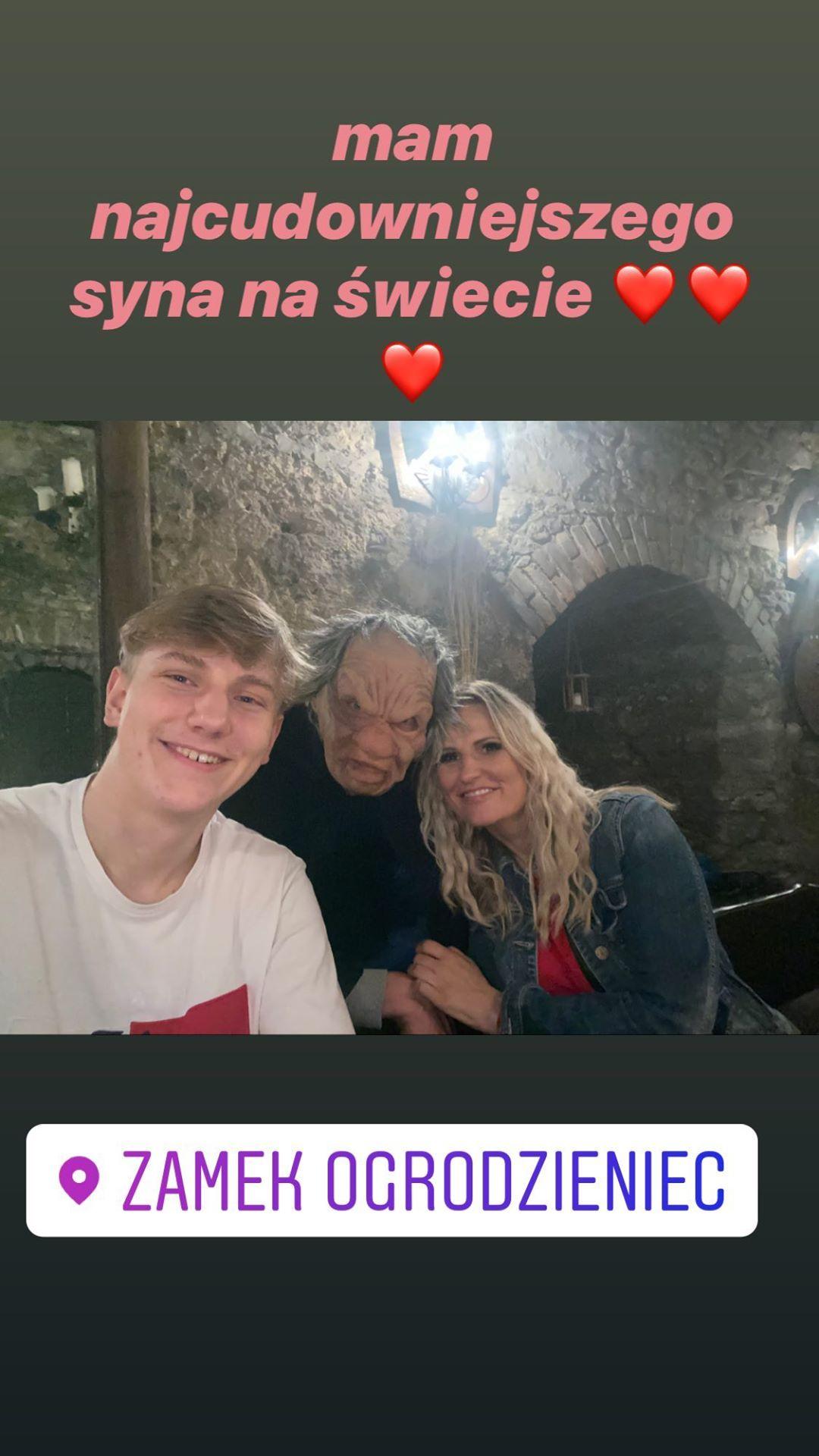 Dominika Tajner z synem