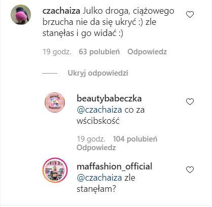 Maffashion odpowiada internautce