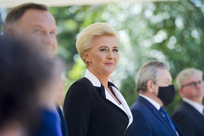 Agata Duda na otwarciu muzeum