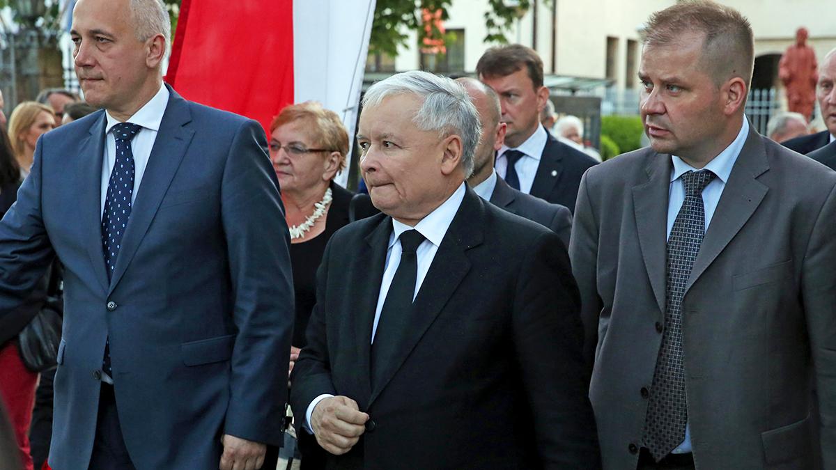 Jarosław Kaczyński i Jacek Cieślikowski