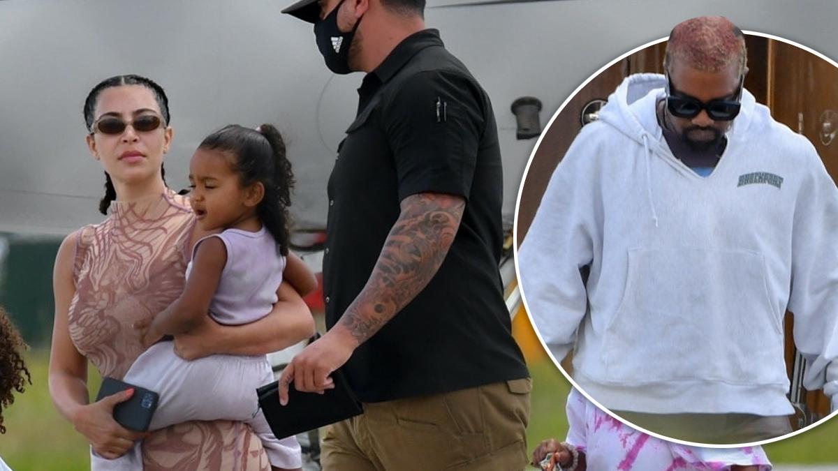 Razem, a jednak osobno? Nowe zdjęcia Kim i Kanyego mówią wiele o ich kryzysie w związku