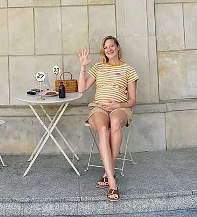 Lara Gessler na końcówce ciąży