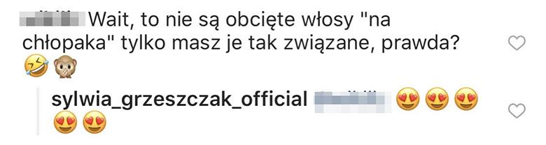 Sylwia Grzeszczak o krótkich włosach