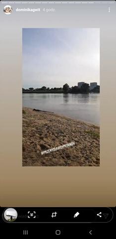 Zdjęcie (5) Dominika Gwit spala kalorie na plaży. Cel jest szczytny
