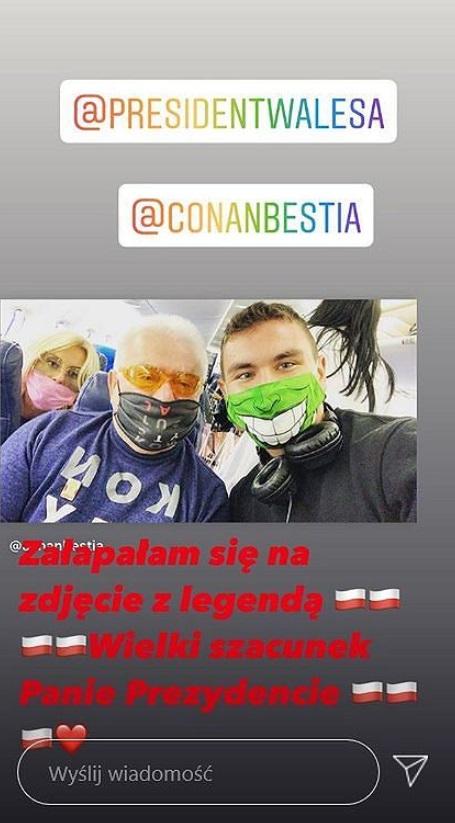 Dagmara Kaźmierska i Lech Wałęsa