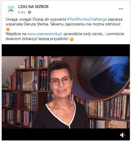 #testwzrokuchallenge - Danuta Stenka