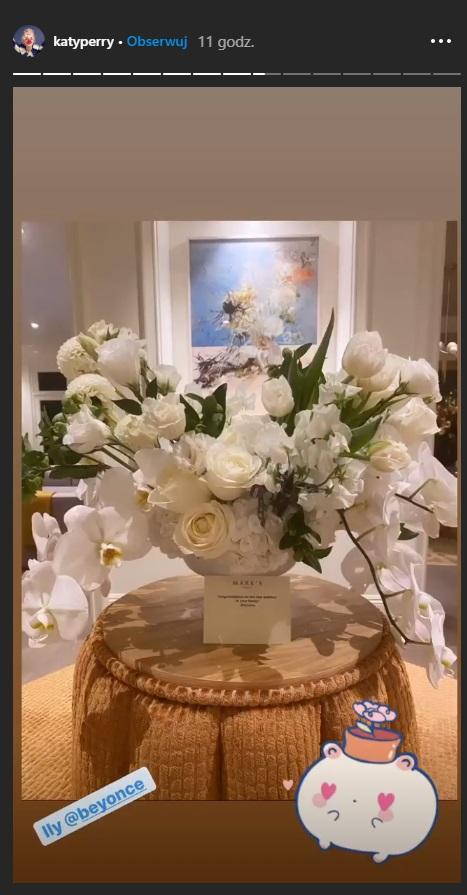 Katy Perry dostała kwiaty od Beyonce