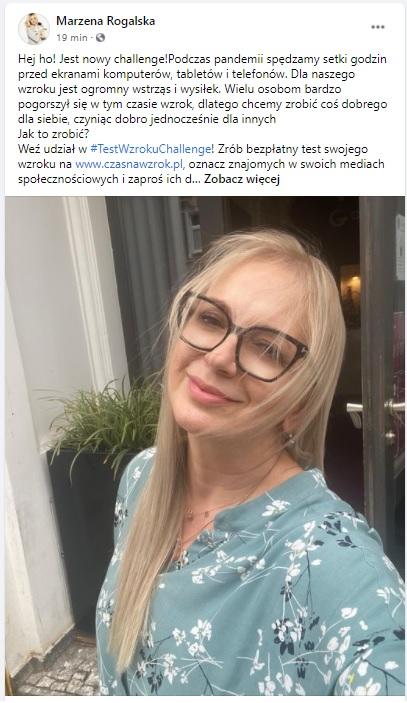 Zdjęcie (8) #testwzrokuchallenge podbija Instagram. Małgorzata Rozenek, Danuta Stenka, Magda Bereda już wzięły udział. Na czym polega?