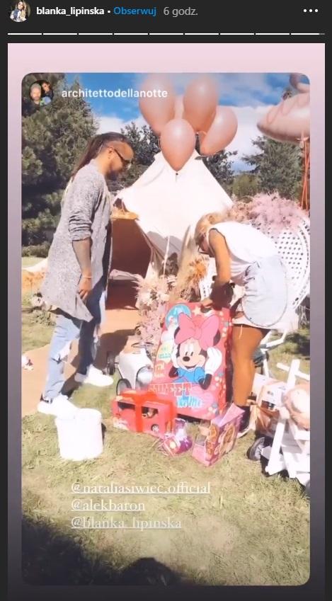Blanka i Baron na urodzinach córki Natalii Siwiec
