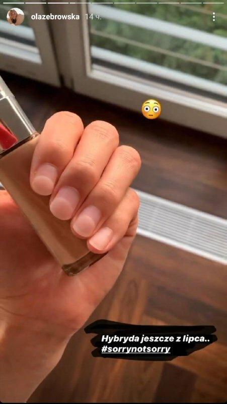 Ola Żebrowska - pokazała paznokcie