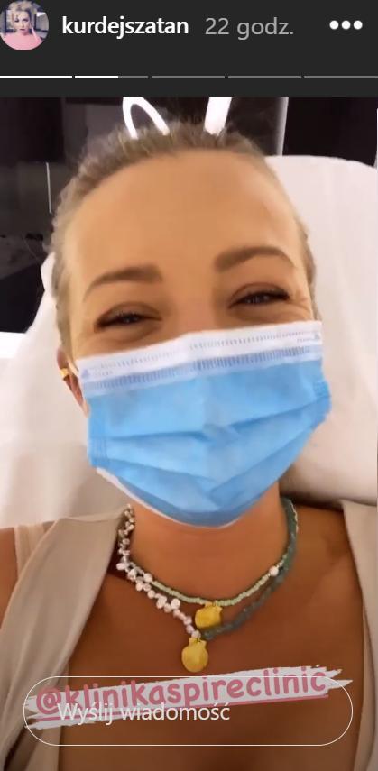 Zdjęcie (1) Barbara Kurdej-Szatan pojawiła się w klinice. Termin porodu minął wczoraj. Czy to już?