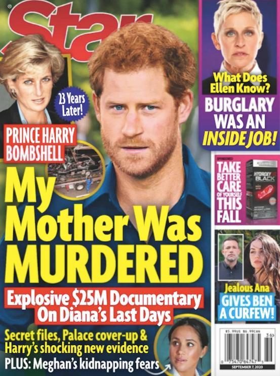 Książę Harry o śmierci księżnej Diany na okładce STAR