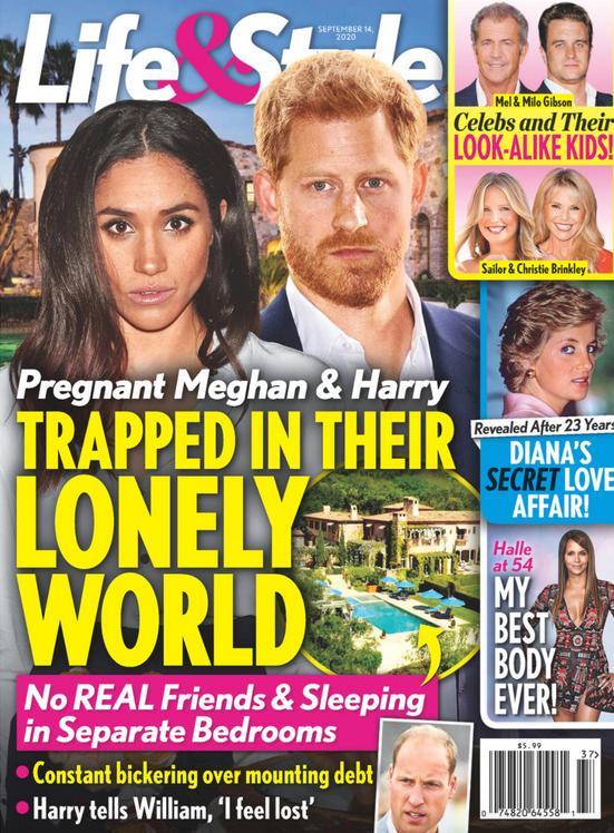 Meghan Markle i książę Harry uwięzieni w samotnym świecie – Life&Style okładka