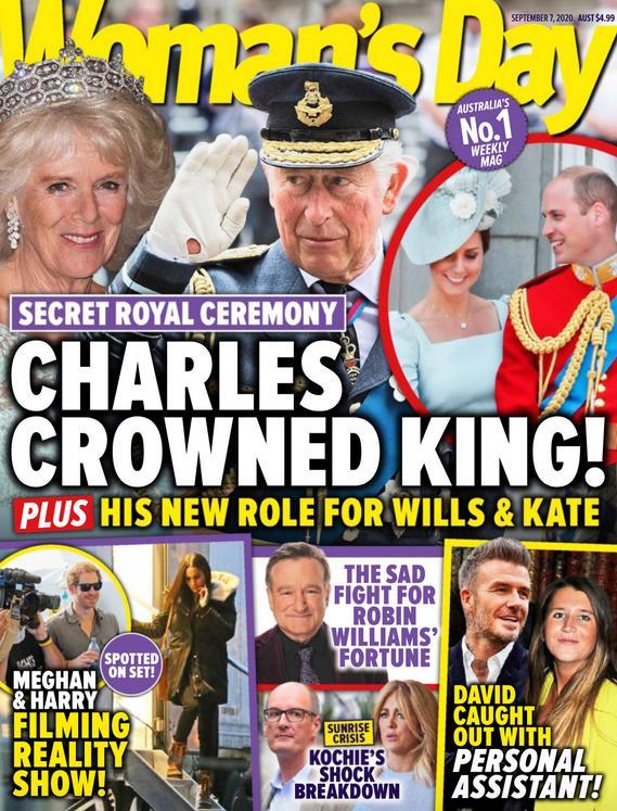 Sekretna koronacja w Pałacu Buckingham – okładka Woman's Day