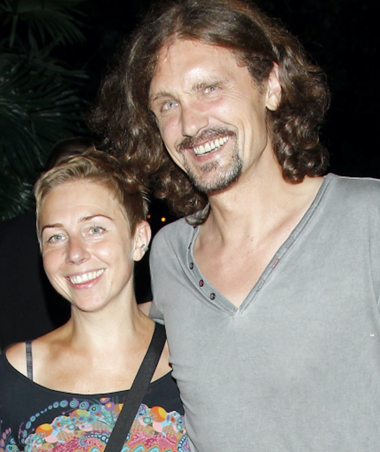 Gienek Loska z żoną Agnieszką