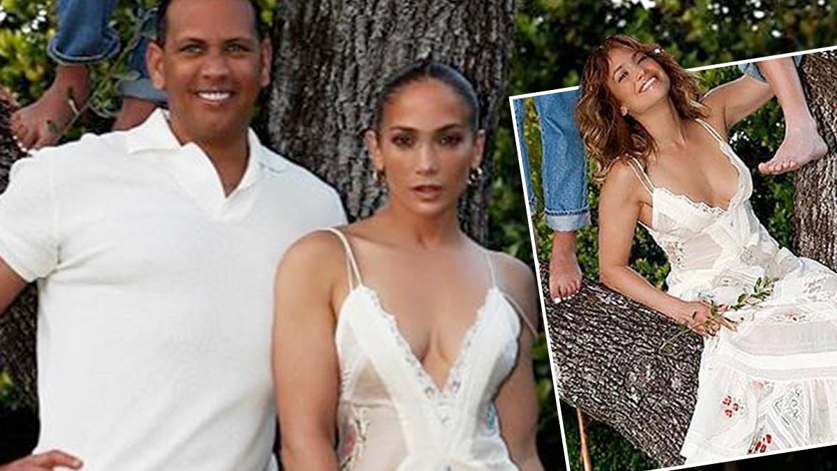 Jennifer Lopez z dziećmi – sesja na drzewie