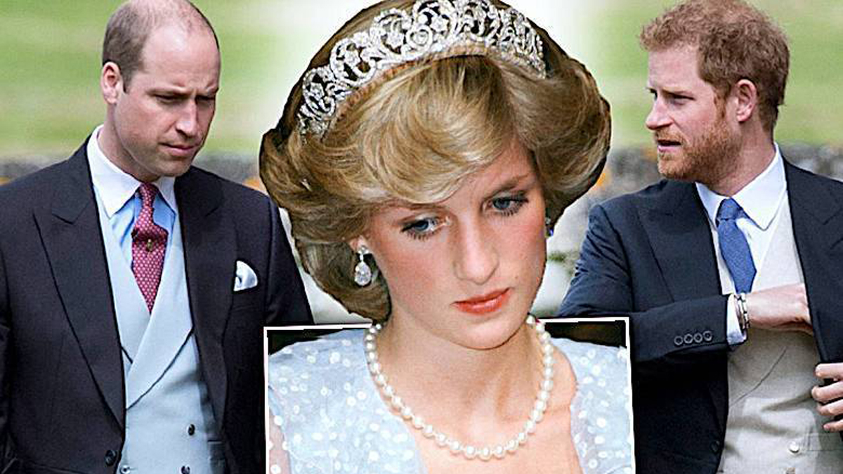 księżna Diana, Harry i William
