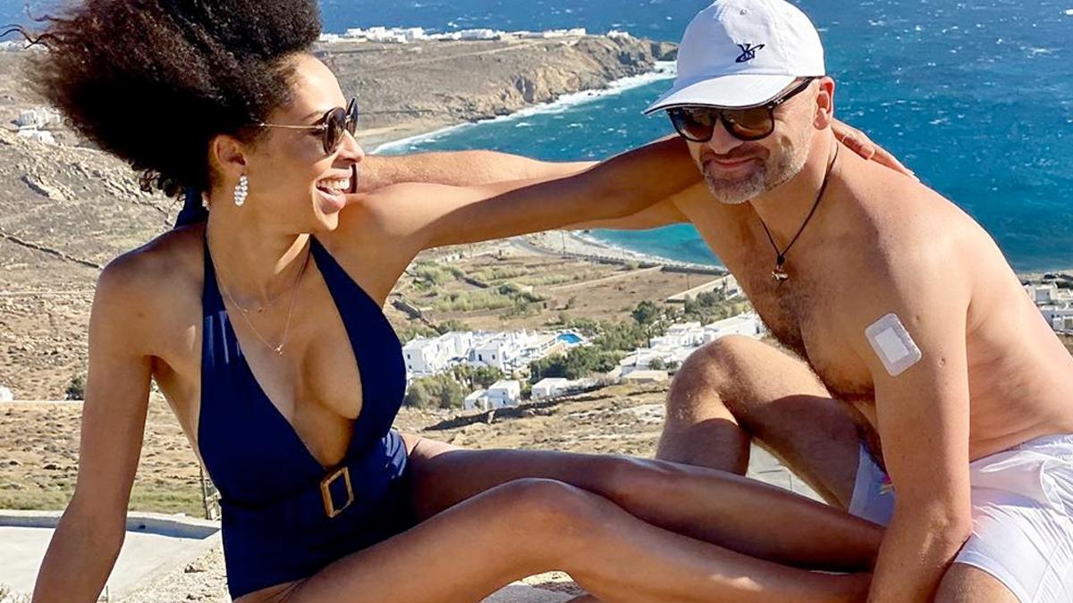Omenaa Mensah z mężem