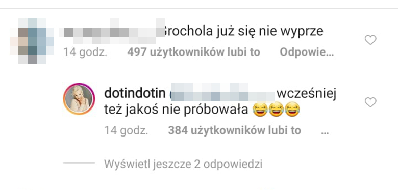 Dorota Szelągowska odpowiada fance