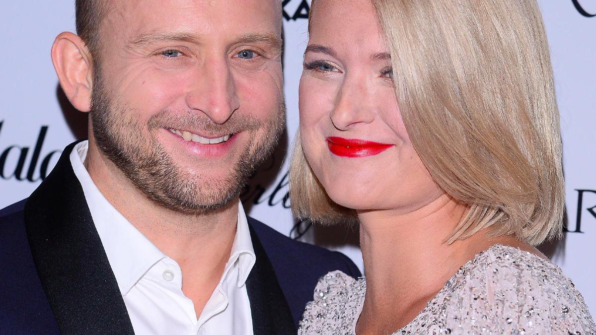 Borys Szyc z żoną