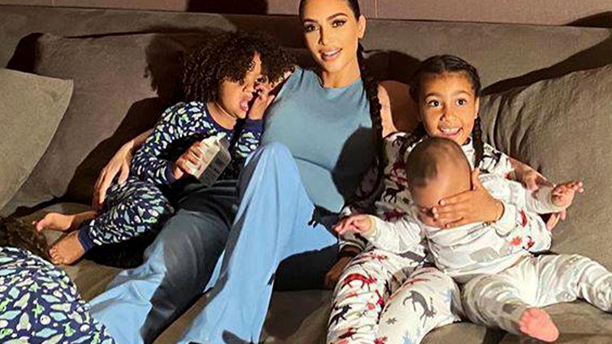 Kim Kardashian z dziećmi