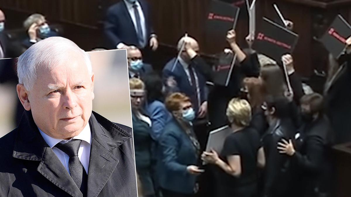 Co Jarosław Kaczyński powiedział do kobiet w sejmie?